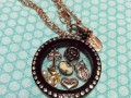 origamiowl, locket, black, rosegold