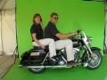 Motor cycle on green screen
