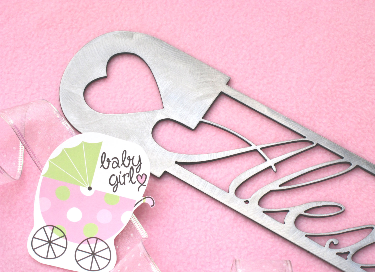 Refined inspirations fairs and festivals fairsandfestivals baby girl personalized name metal wall art baby nursery decor amipublicfo Gallery