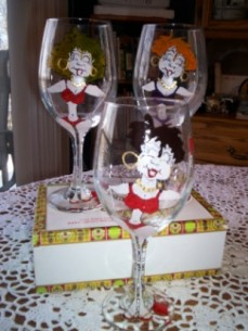 Little Lady's Hand Painted Glasses